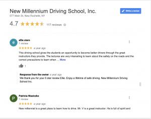 New Millennium Driving School Reviews
